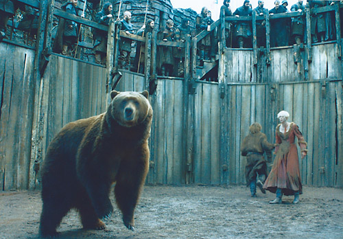 """Bart the Bear 2 on a 2013 episode of the HBO hit """"Game of Thrones."""""""